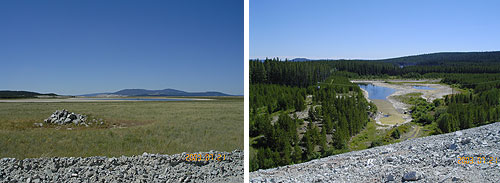 Closed tailings facilities at Highland Valley Copper, Canada
