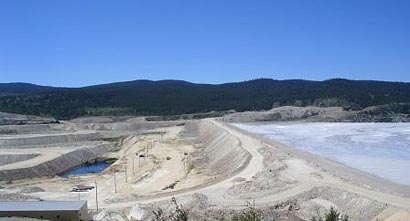 H-H embankment at Highland Valley Copper, Canada