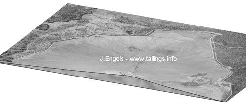 Cross-section of the Kidd Creek thickened tailings storage facility