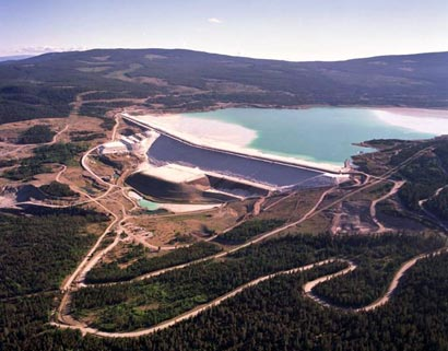 L-L embankment at Highland Valley Copper Mine, Canada